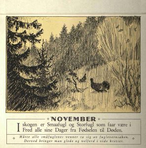 Dyrebeskyttelsens kalender 1932 november