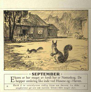 Dyrebeskyttelsens kalender 1932 september
