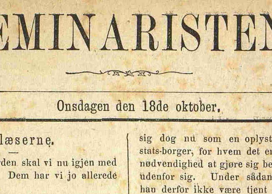 Seminaristen 18.10.1871 1. utgave
