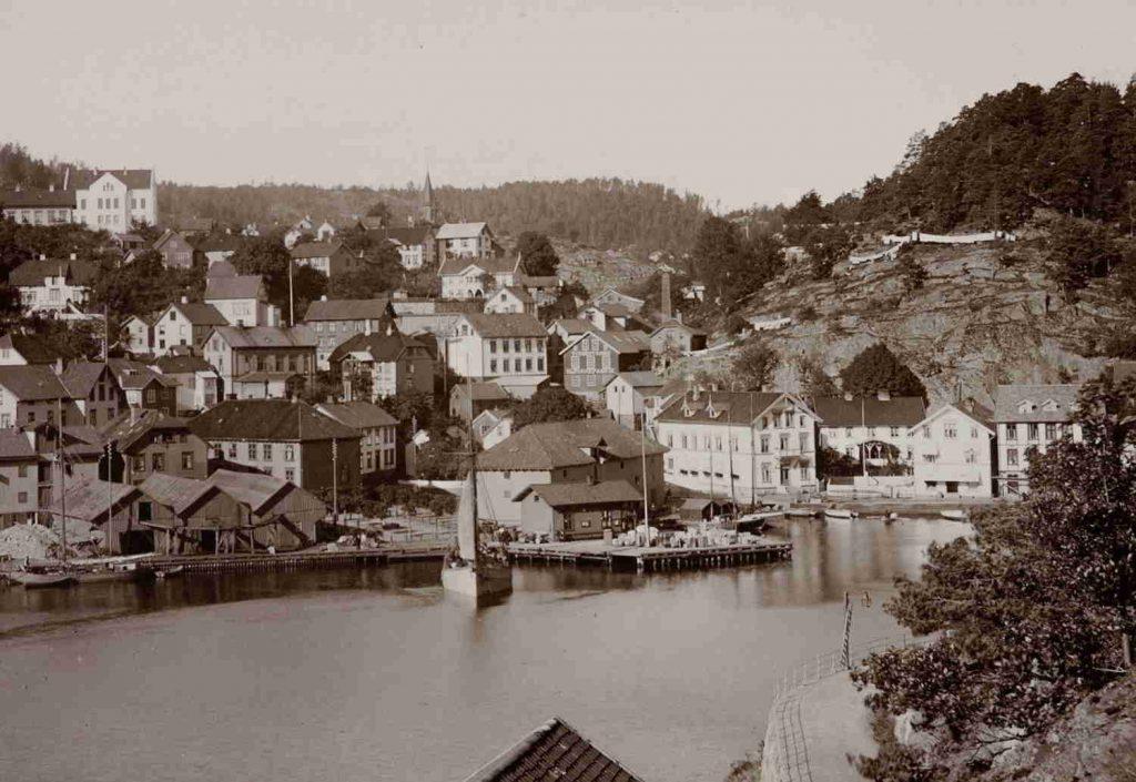 Tvedestrand rundt 1890
