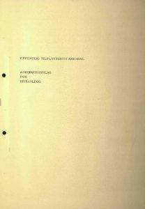 Anbudsgrunnlag for heisanlegg til offentlig tilfluktsrom Arendal 1971