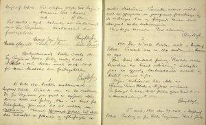 Arendals diskusjonsforening sin journal 1911 til 1921 s. 4 og 5