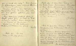 Arendals diskusjonsforening sin journal 1911 til 1921 s. 6 og 7