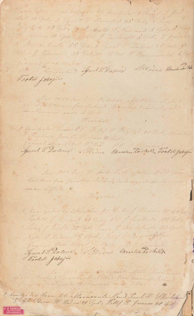 Forstanderskapsprotokoll for Iveland Sparebank 1868 1