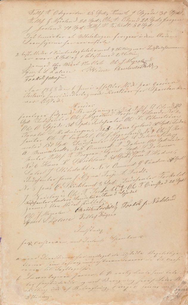 Forstanderskapsprotokoll for Iveland Sparebank 1868 2