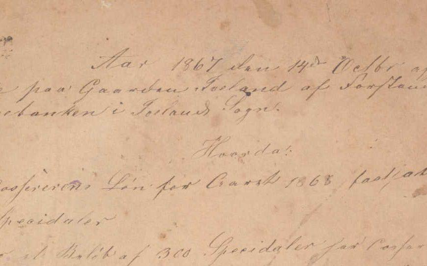 Forstanderskapsprotokoll for Iveland Sparebank 1867