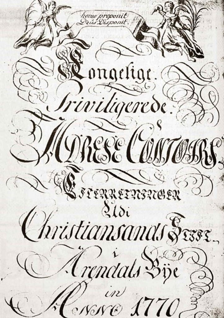 Kongelige Privilegerede Adrese Contoirs 1770