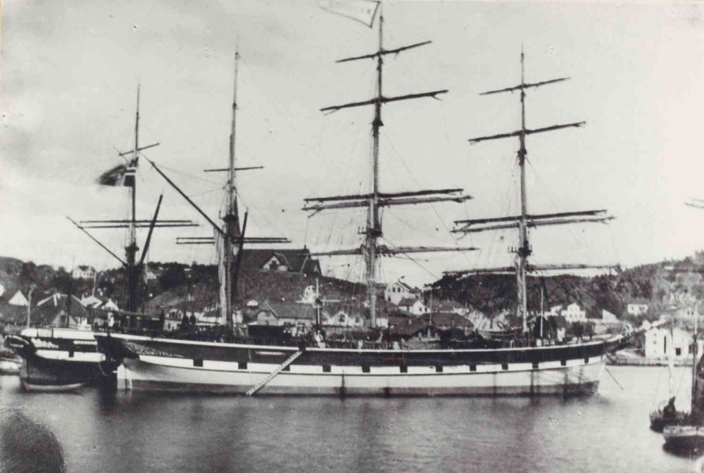 """Bark """"Elieser"""" i Grimstad havn"""