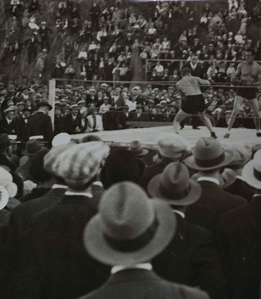 Boksekamp mellom Otto von Porat og Knut Pedersen Arendal 03.09.1933