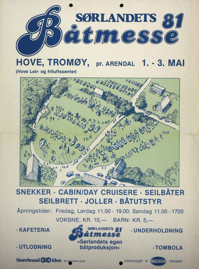 Plakat for Sørlandets Båtmesse 1981