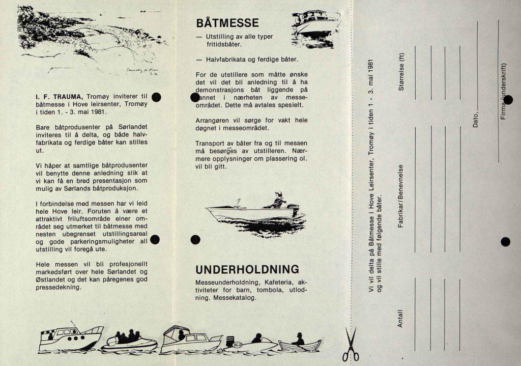 Programblad for Sørlandets Båtmesse 1981 2