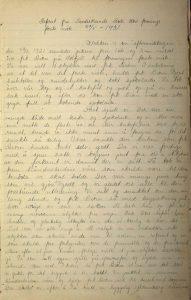 Tvedestrand Røde kors sin møtebok 1931 s. 1