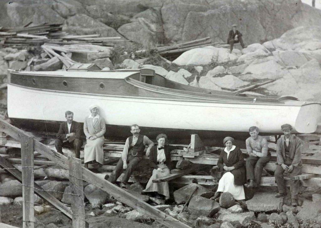 Fevik baatbyggeri rundt 1916