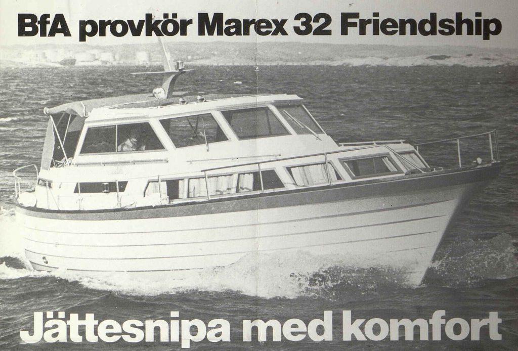 Marex Fridenship i bladet Båt för Alla 1976