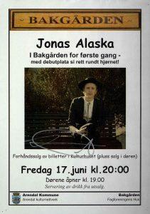 Plakat Jonas Alaska i Bakgården 17. juni 2011