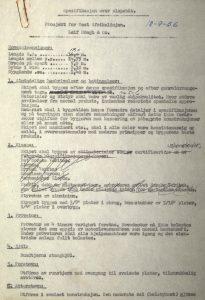 Spesifikasjon over slepebåt ved Holmens Verft 18.09.1956 s. 1