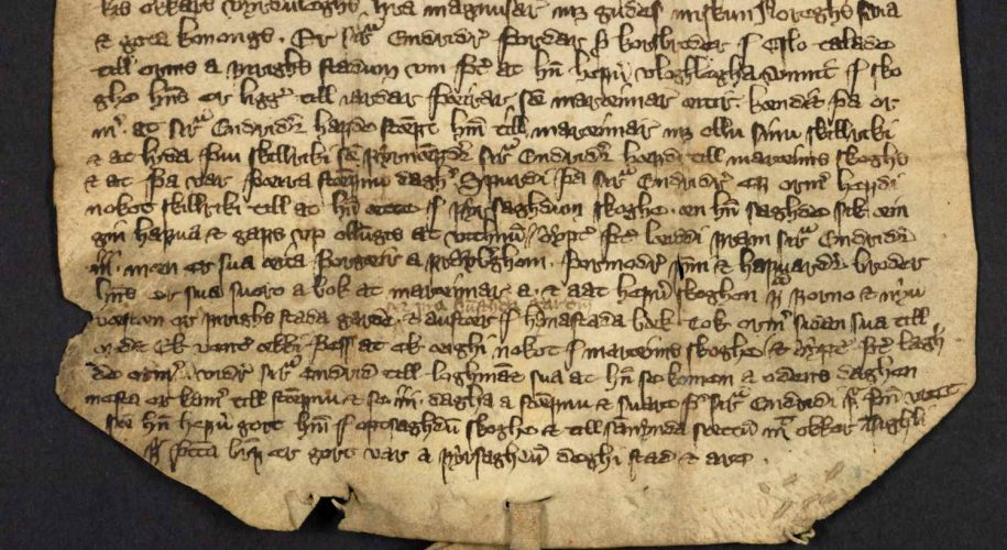 Skinnbrev fra gården Marum 1341