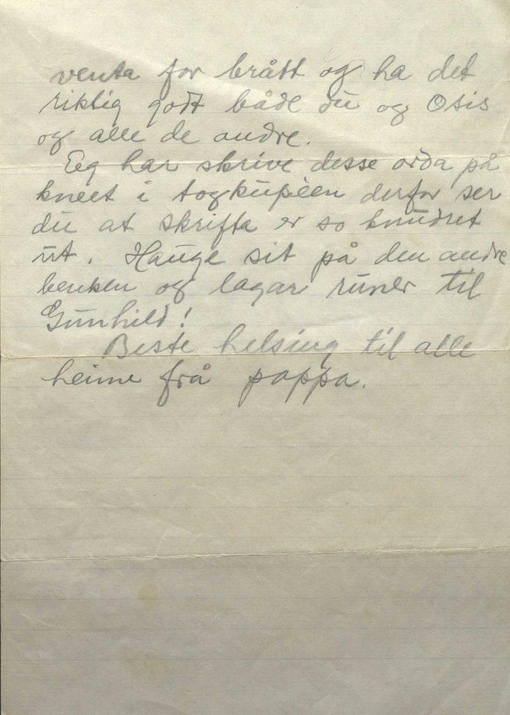 Brev fra Johan Helle 29.3.1942, Kirkenes, s.2
