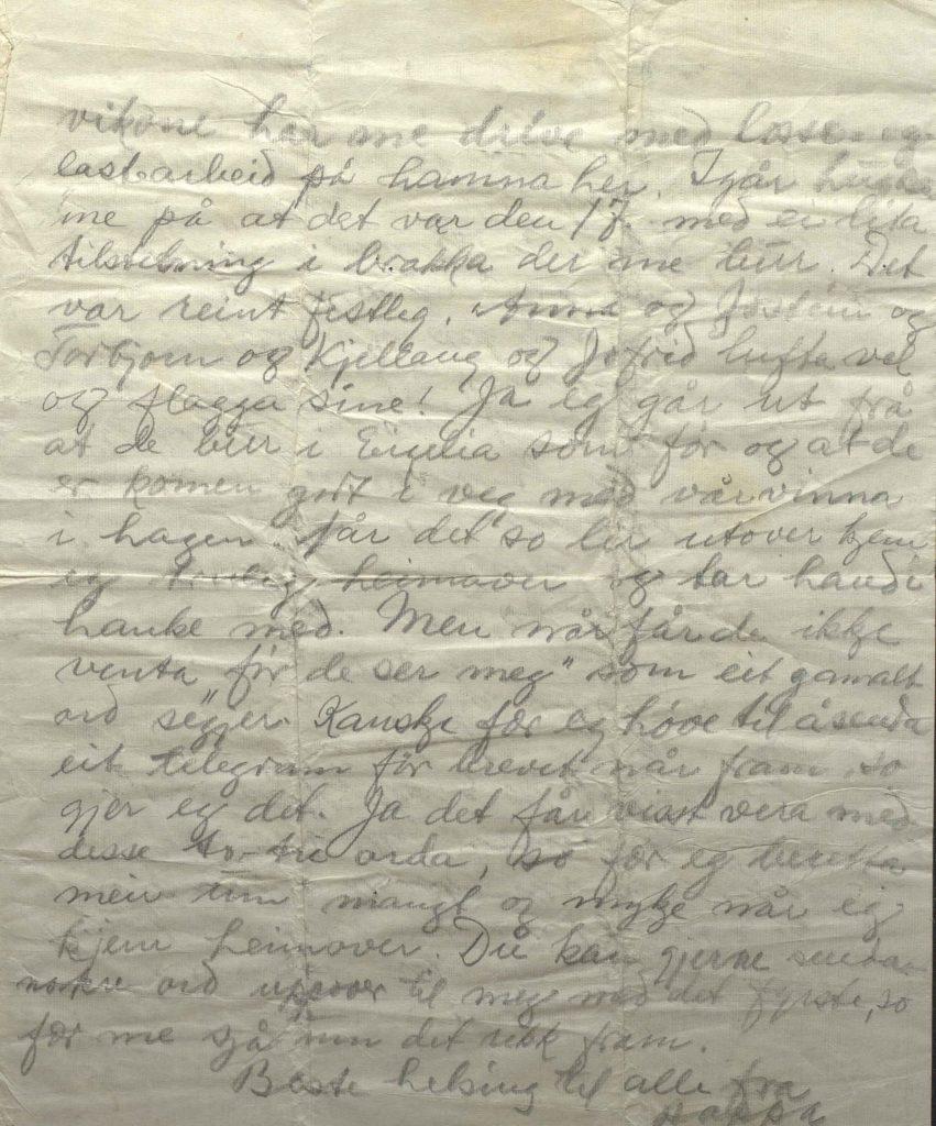 Brev fra Johan Helle 18.5.1942, Kirkenes, s.2